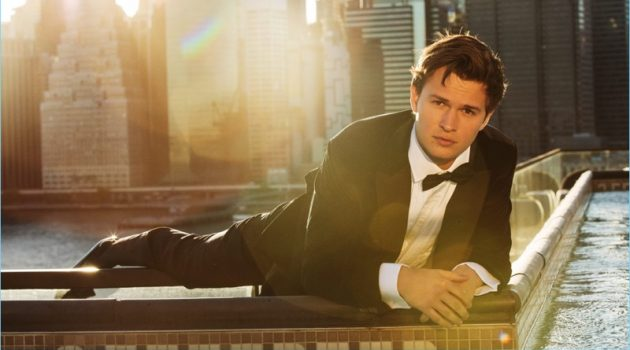 John Tan dresses Ansel Elgort in a tuxedo for the pages of Gentleman's Journal.