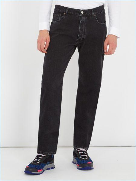 Balenciaga Black Straight-Leg Jeans
