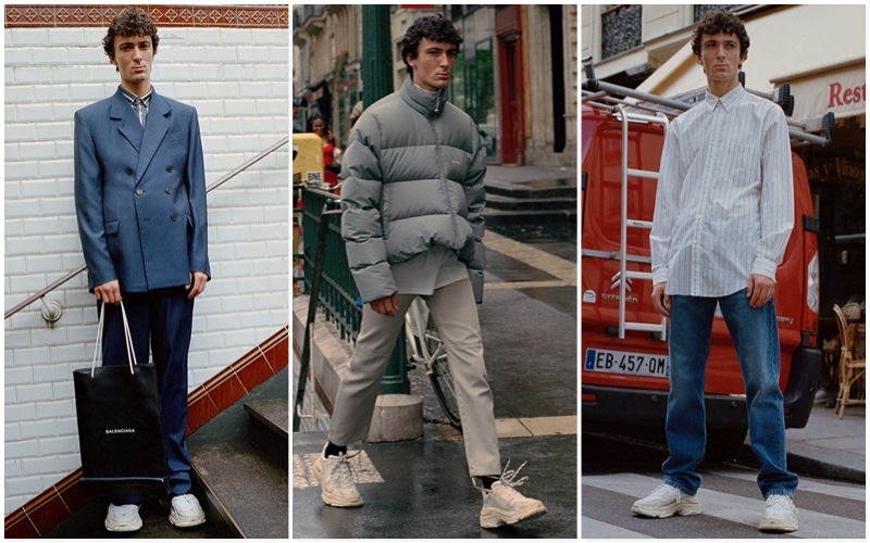 Discover Balenciaga's fall-winter 2017 menswear that's available from Matches Fashion.