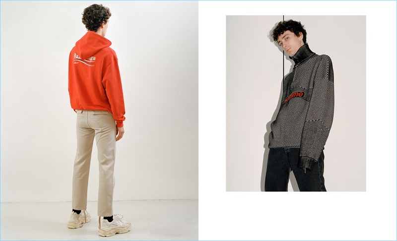 Tap into a designer spin on streetwear with Balenciaga's latest fashions.