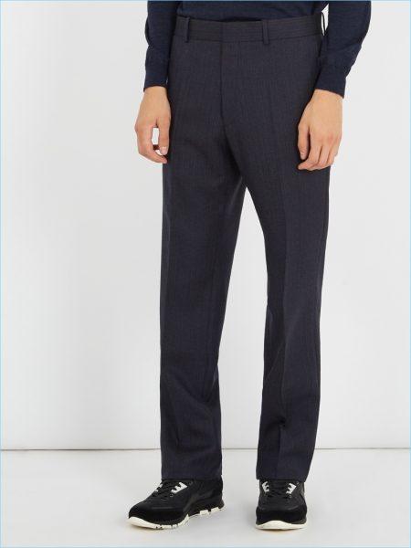 Balenciaga Herringbone Trousers