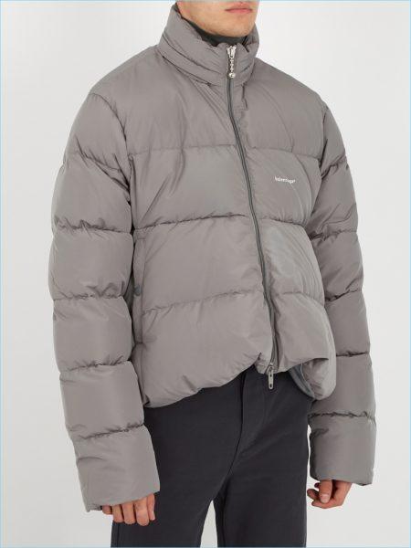 Balenciaga High-Neck Quilted Jacket