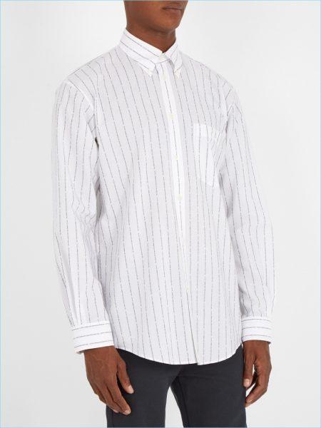 Balenciaga Logo Jacquard Shirt