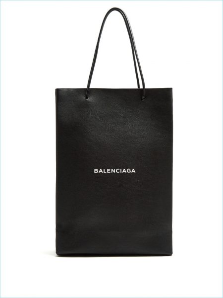 Balenciaga Logo Printed Leather Tote
