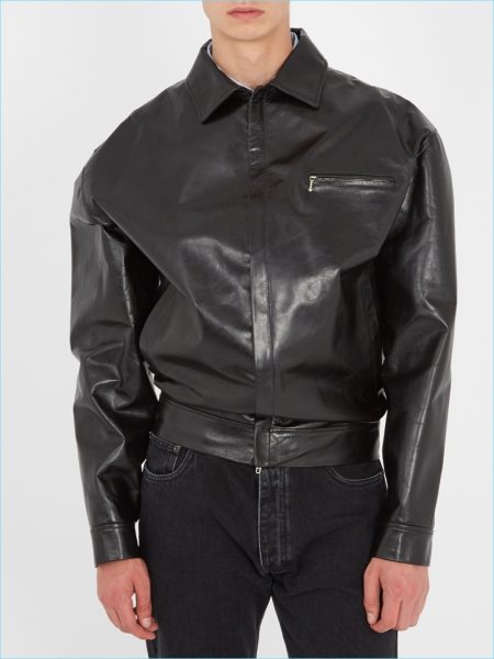 Balenciaga Wobble Leather Jacket
