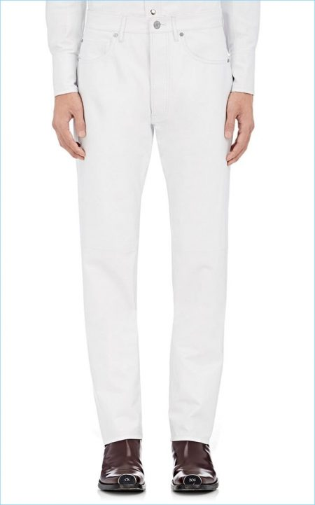 Calvin Klein 205W39NYC Leather Straight Jeans