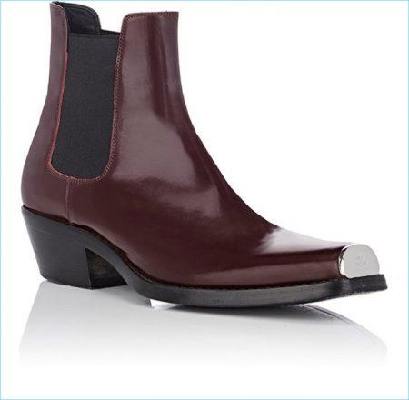 Calvin Klein 205W39NYC Spazzolato Leather Chelsea Boots