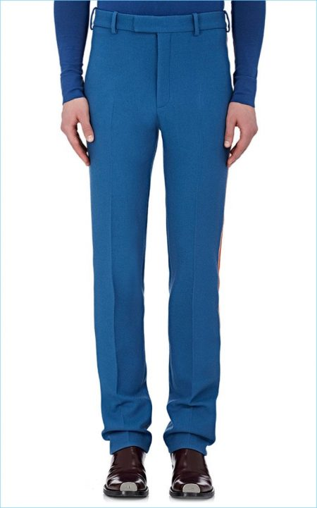Calvin Klein 205W39NYC Stripe-Appliquéd Virgin Wool Trousers