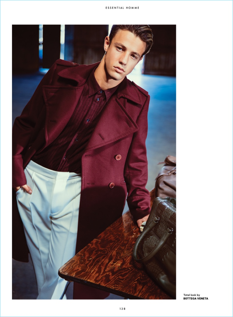 Cameron Dallas Stars in Essential Homme Fall Cover Shoot