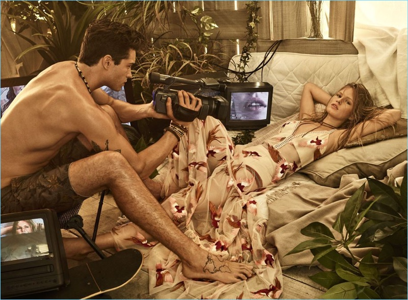Turning a page as director, Francisco Lachowski films Anna Ewers for Colcci's spring-summer 2018 campaign.