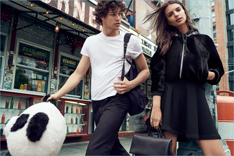 Miles McMillan and Emily Ratajkowski star in DKNY's fall-winter 2017 campaign.