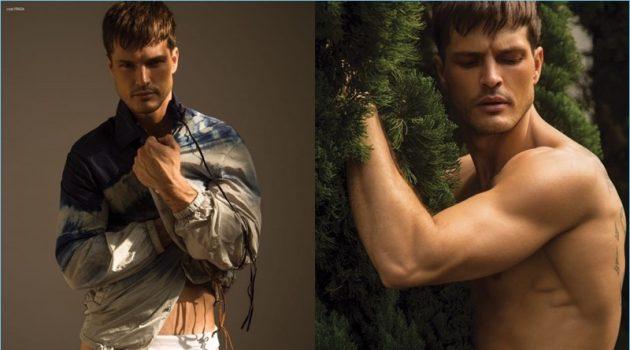 Diego Miguel Wears Prada Fashions for Victor Magazine