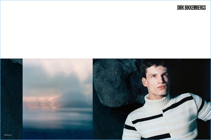 Brett Lloyd photographs Jari Lievens for Dirk Bikkembergs' fall-winter 2017 campaign.