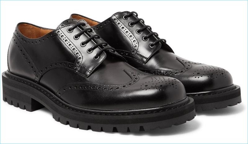 Dries Van Noten Polished-Leather Wingtip Brogues