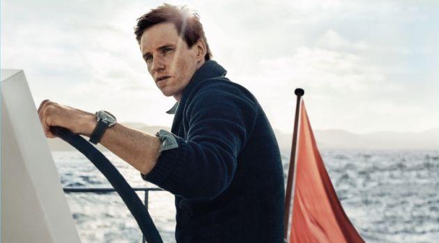 Eddie Redmayne fronts Omega's Seamaster Aqua Terra campaign.