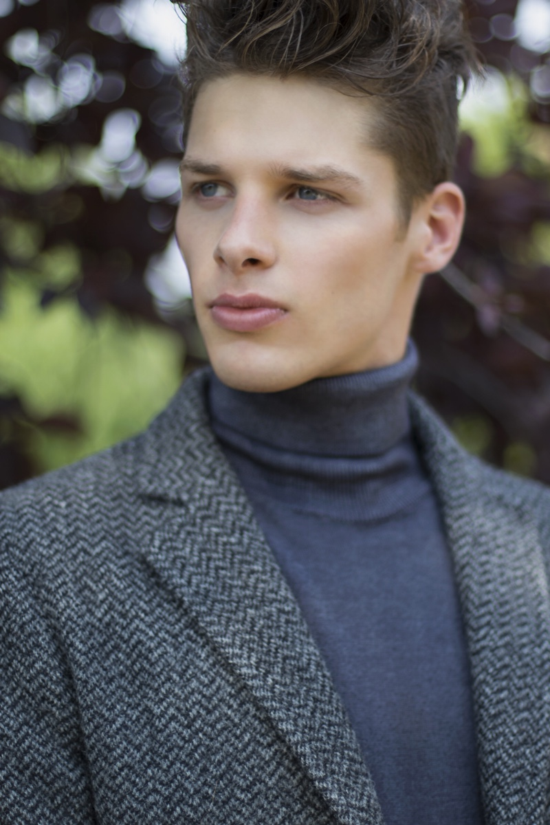 Andrei wears turtleneck Laboratori Italiani and sport coat Doppiaa.