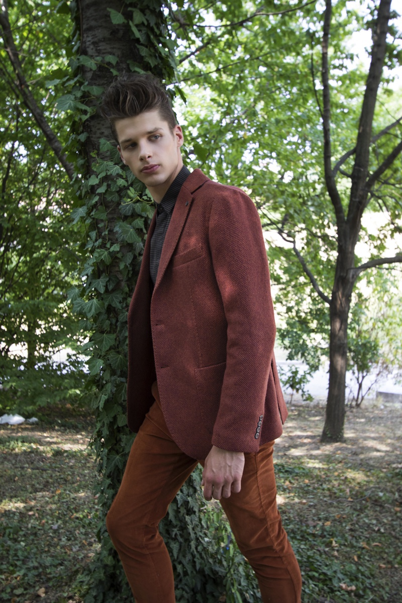 Andrei wears shirt Antony Morato, shoes Rivieras, sport coat and pants Laboratori Italiani.