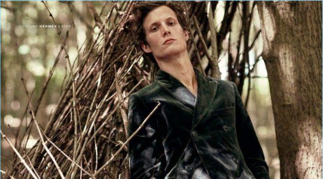 L'Idéaliste: Felix Gesnouin Dons Romantic Styles for GQ France