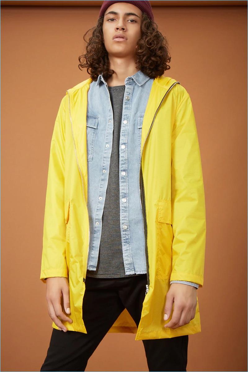 Forever 21 Men Longline Two-Way Zip Jacket