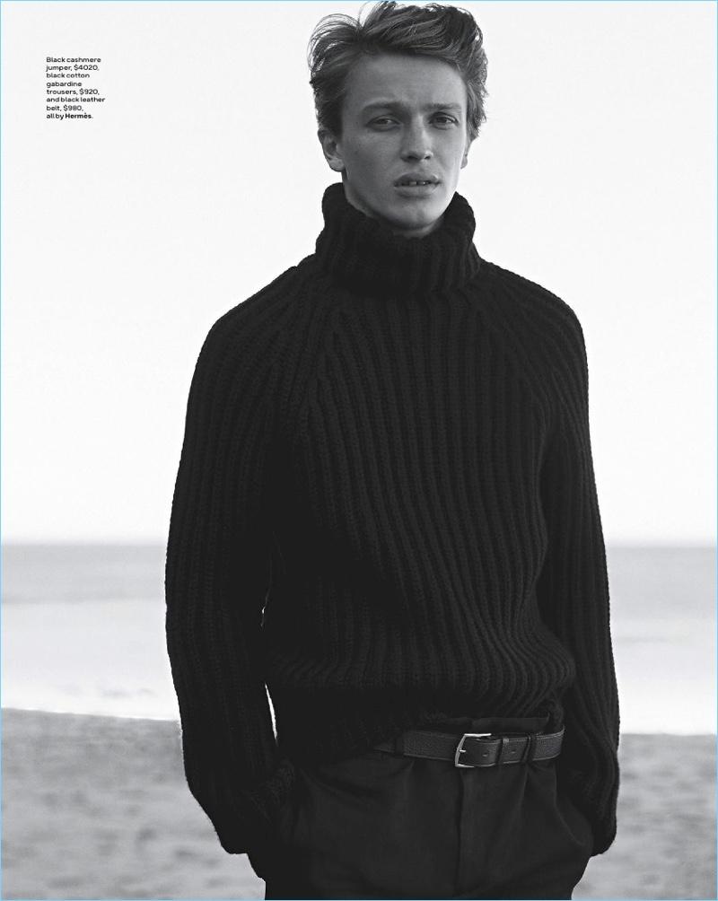 Winter Blues: GQ Australia Takes Hermès to the Beach