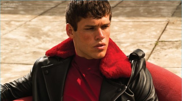 Gabriel Loureiro Rocks Fall Fashions for Victor Cover Shoot