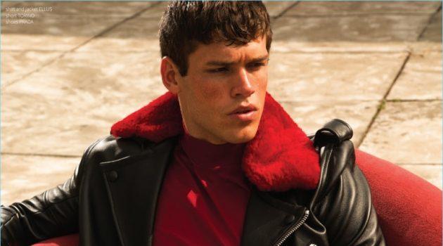 Gabriel Loureiro Rocks Fall Fashions for Victor Cover Shoot