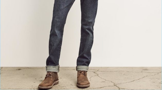 Take a style note from Gap and pair your Clarks boots with effortless denim styles. Here, model Stefan Pollmann makes a case for denim on denim.