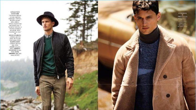 Born to Roam: Garrett Neff Models Fall Fashions for Departures Cover Shoot