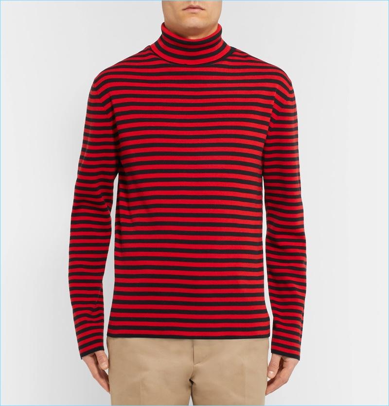 Gucci Striped Cotton Rollneck Sweater