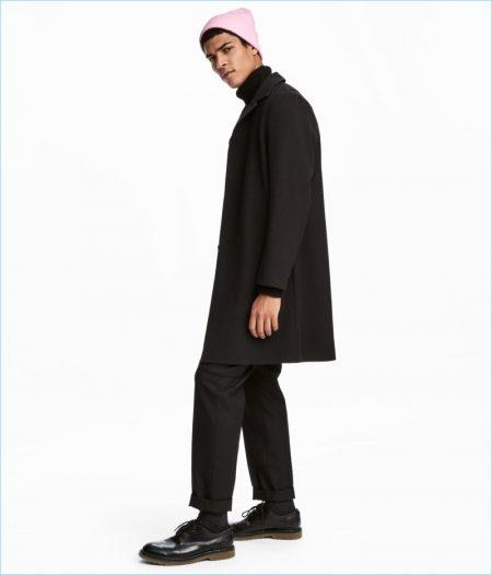 H&M Black Men's Coat