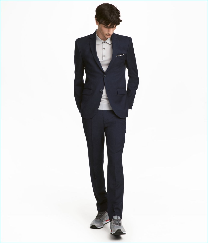 H&M Skinny Men's Suit Cheap