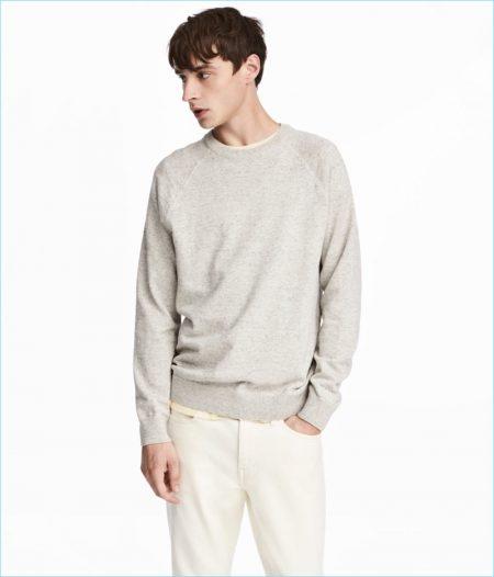 H&M Men's Fine-knit Cotton Sweater