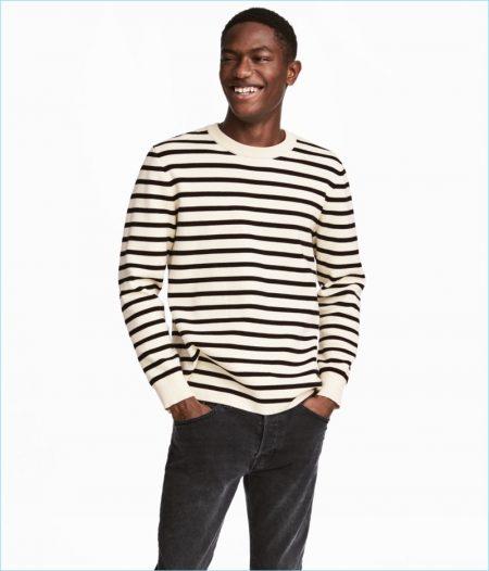 H&M Men's Fine-Knit Cotton-Blend Sweater