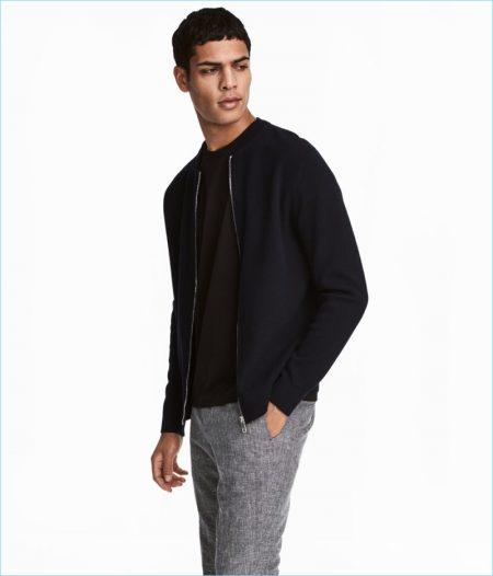 H&M Men's Long-Staple Cotton Cardigan