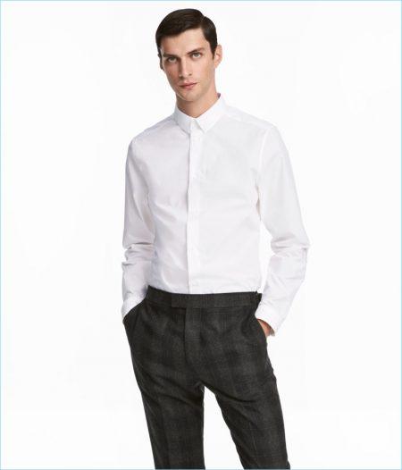H&M Men's Premium Cotton Shirt