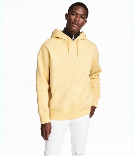 H&M Men's Wide-Cut Hooded Sweatshirt