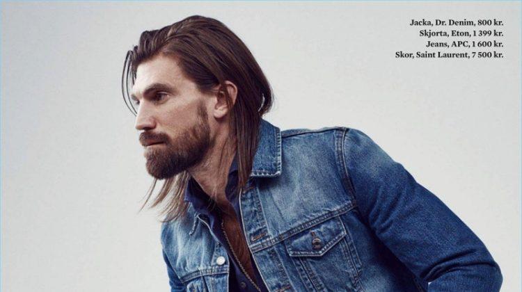 Henrik Fallenius Rocks Denim Fashions for King Magazine
