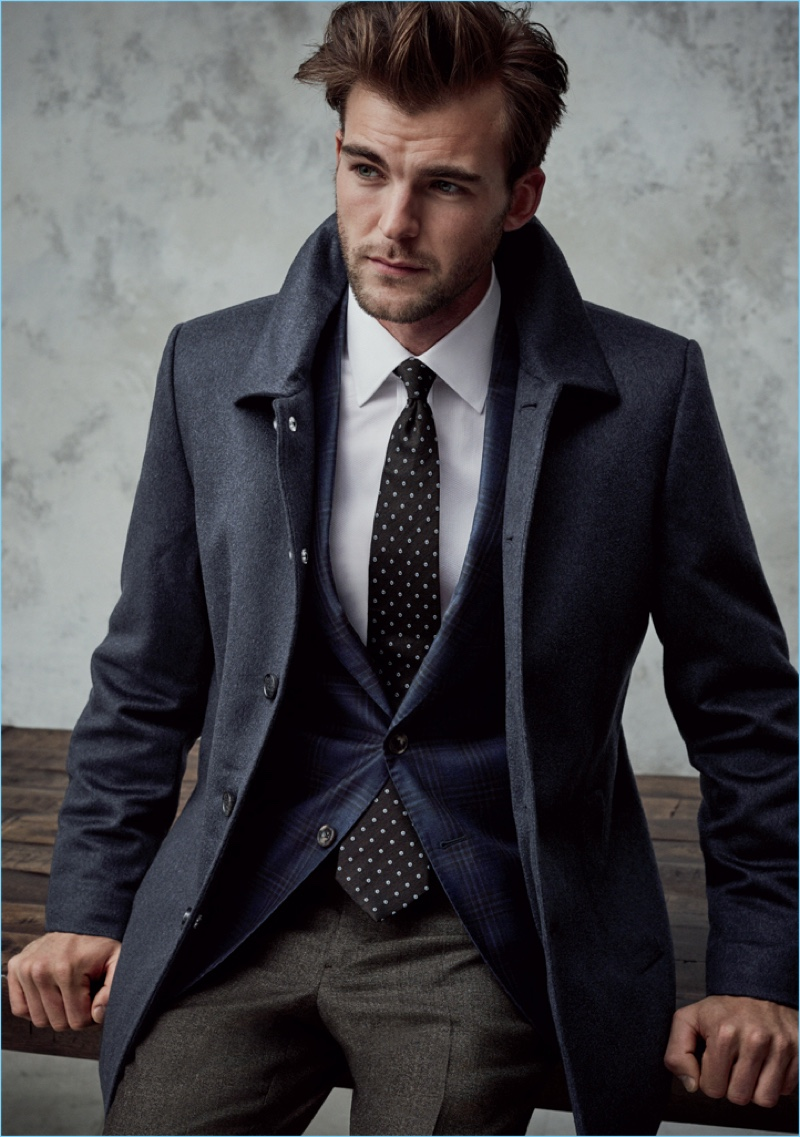 Patrick Kafka is a smart vision in fashions from J.Hilburn.