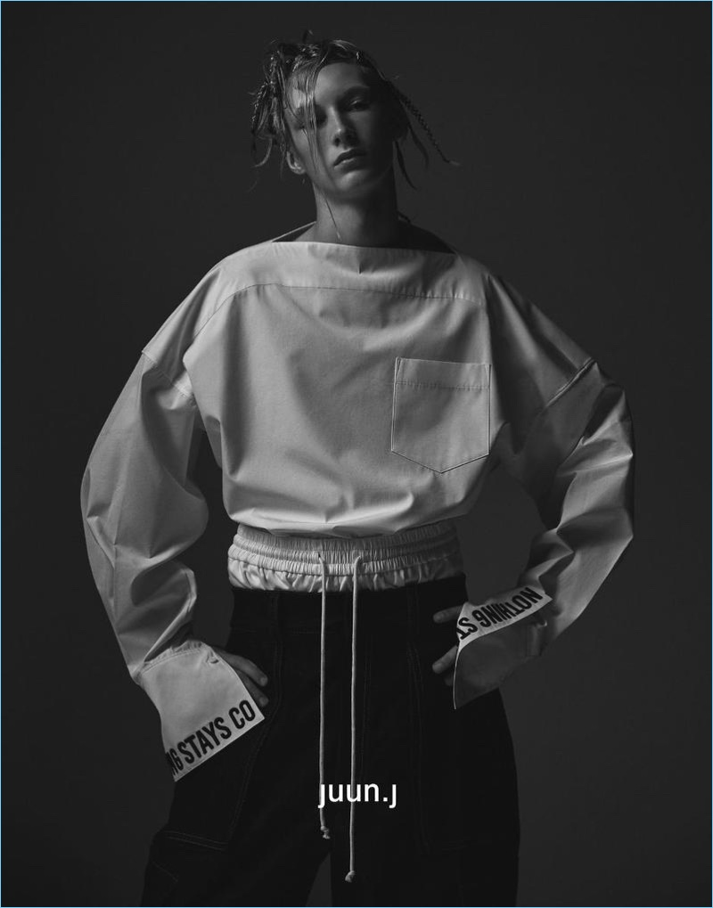 Swedish model Ville Sydfors fronts JUUN.J's fall-winter 2017 campaign.