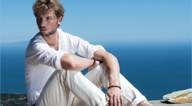 Zackary Peck stars in a summer campaign for Jerusalem Sandals.