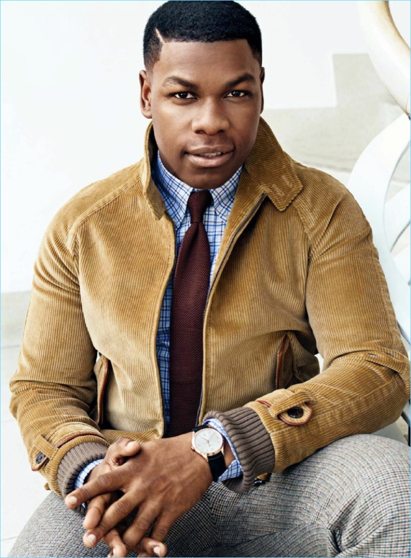Actor John Boyega wears a retro-inspired look by Prada.