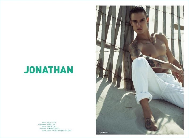 Jonathan Bellini Visits Beach for Mandrawn Cover Story