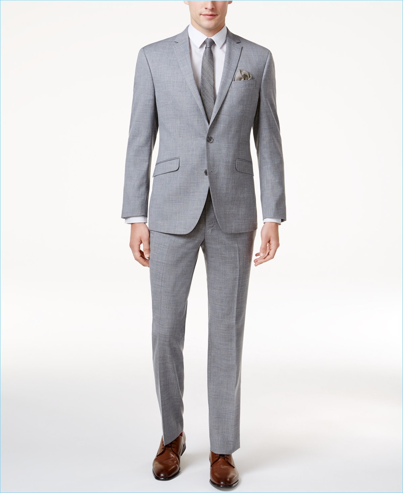 Kenneth Cole Reaction Suit Grey