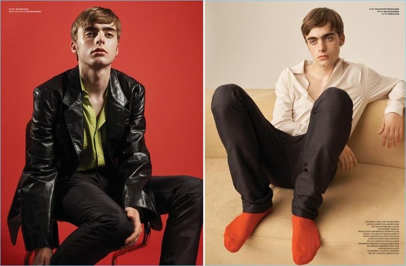 Boyish Charm: Lennon Gallagher Embraces Retro Style for VMAN