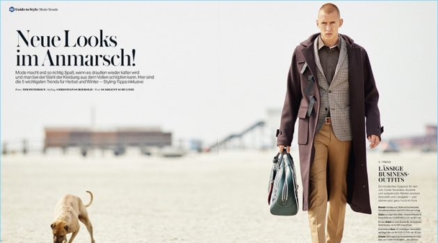 Leon Beitz Sports New Fall Looks for Men's Health Germany
