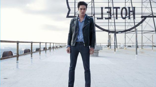 Levi Dylan stars in UNIQLO's new denim campaign.