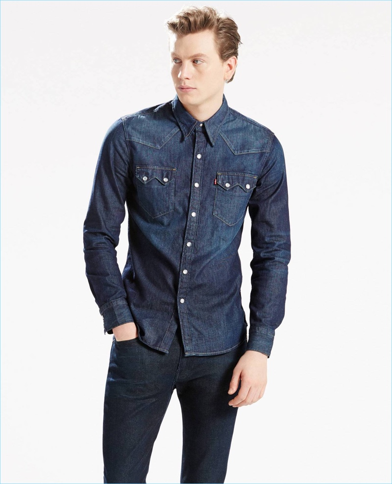 Levi's Sawtooth Denim Western Shirt