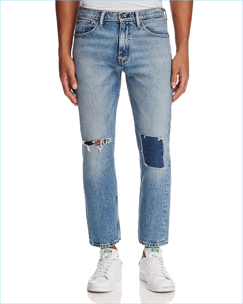 Levi's Sublime Rhythm Pieced Straight Fit Jeans in Blue