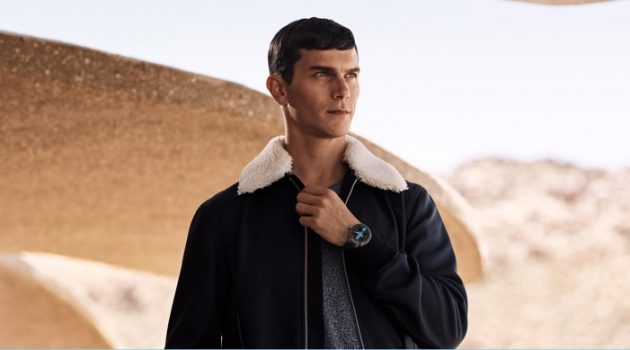 Vincent LaCrocq stars in Louis Vuitton's Tambour Horizon connected watch campaign.