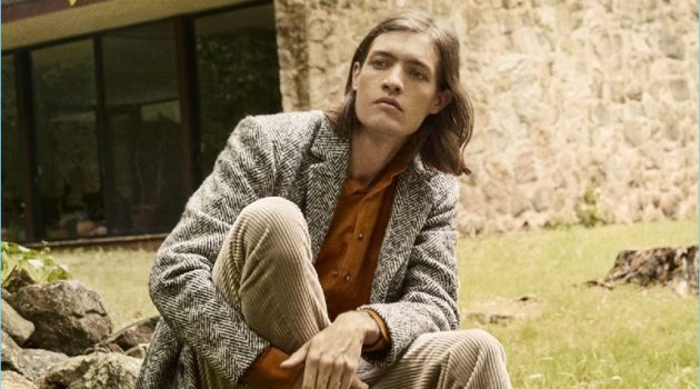 Parallel Lines: Marcel Castenmiller Dons Corduroy Fashions for Esquire